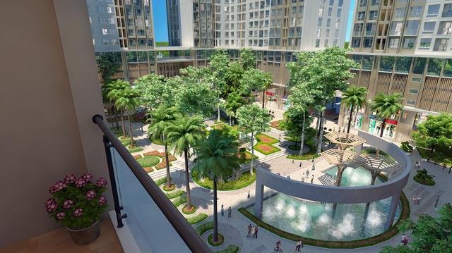 sân vườn chung cư eco green city