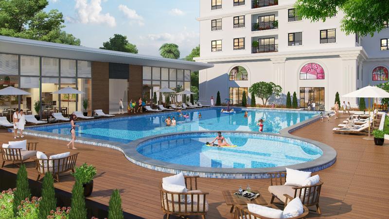 bể bơi dự án eco lake view
