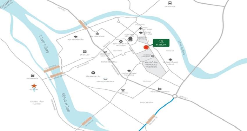 vị trí chung cư eco city