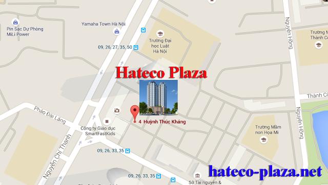 vị trí dự án hateco plaza