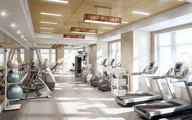 khu tập gym, spa chung cư tân hồng hà complex